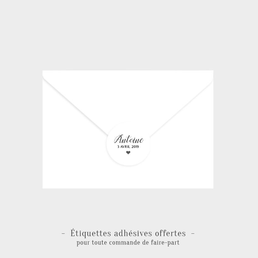 Etiquettes adhésives Tendresse offertes