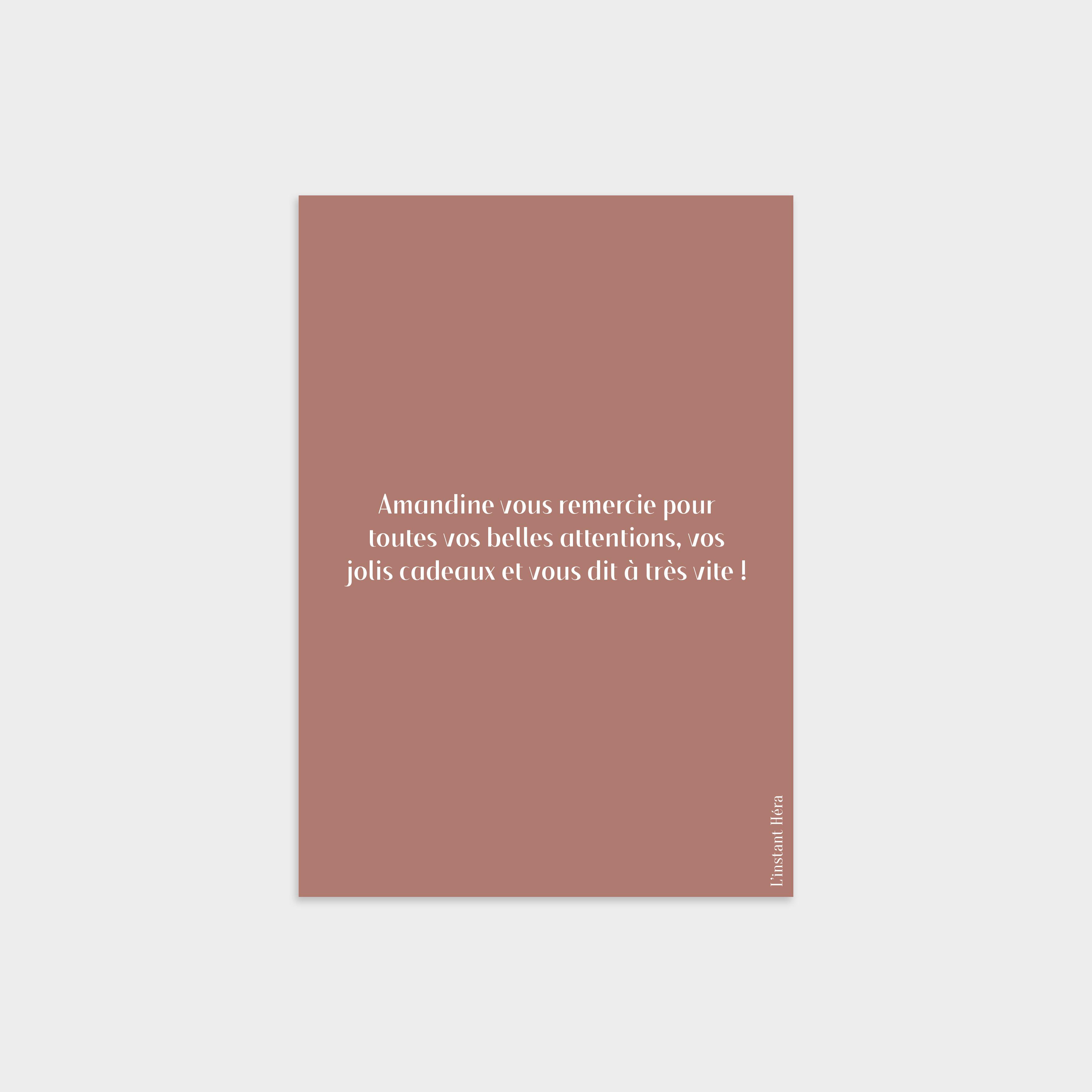 Carte de remerciement Brin d'amour Romande