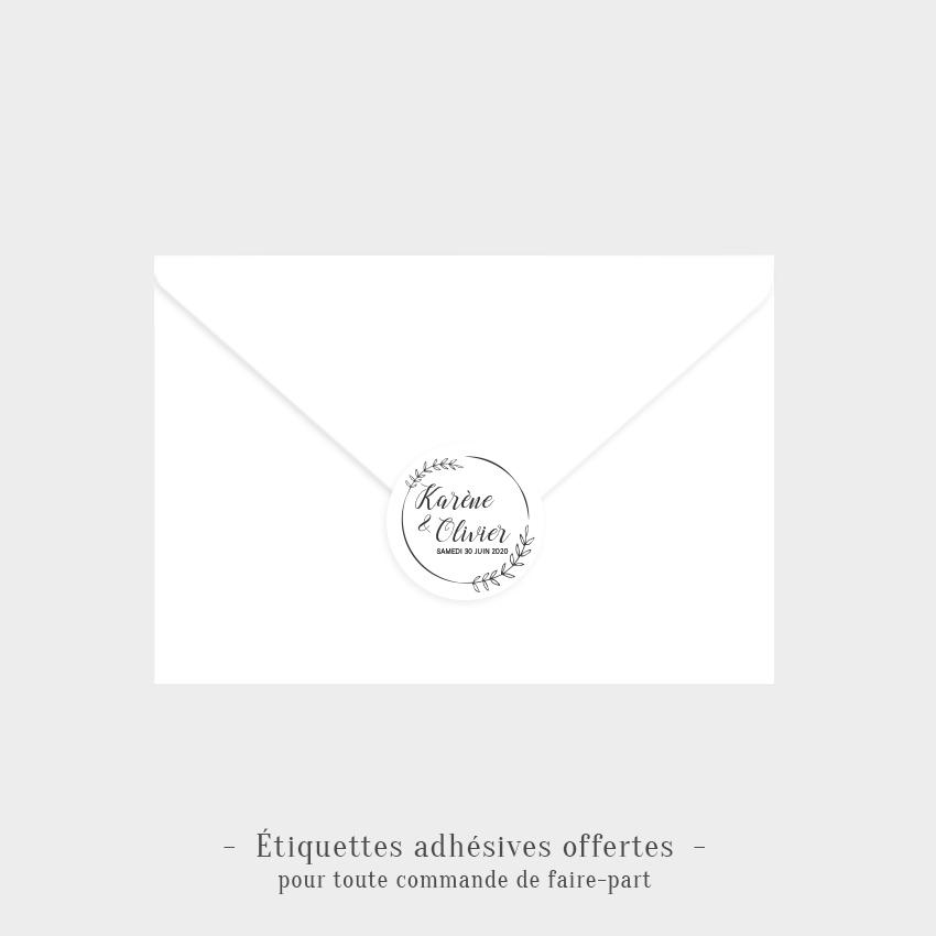 Etiquettes adhésives Champêtre offertes