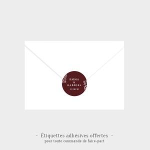 Etiquettes adhésives Histoire d'amour offertes