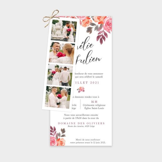 Faire-part de mariage Bouquet