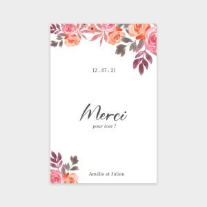 Carte de remerciement Bouquet