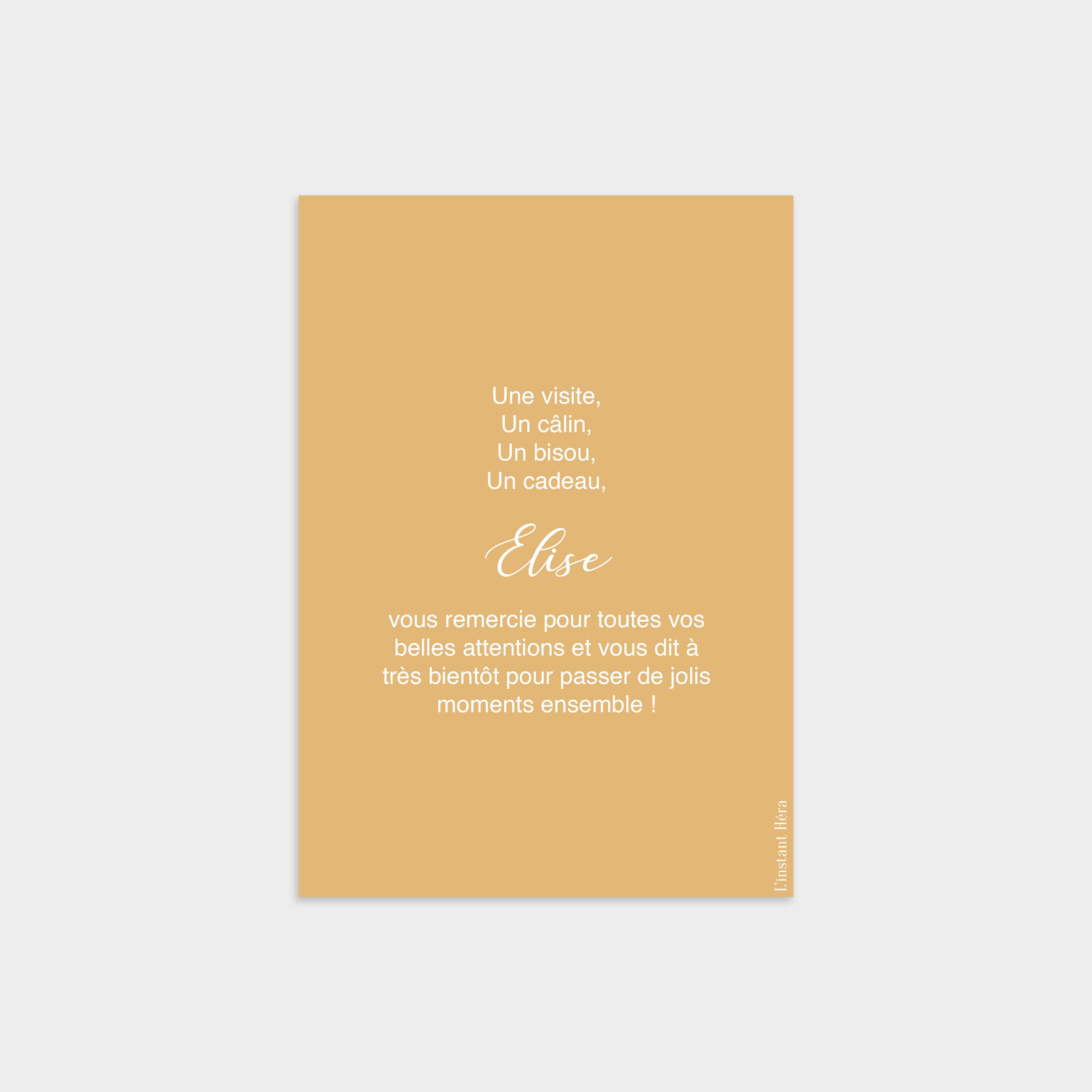 Carte de remerciement Joli coeur Soleil