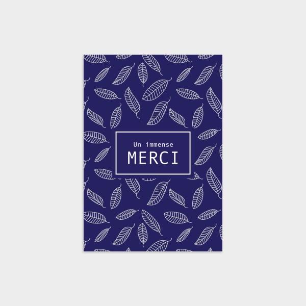 Carte de remerciement Rêve bleu