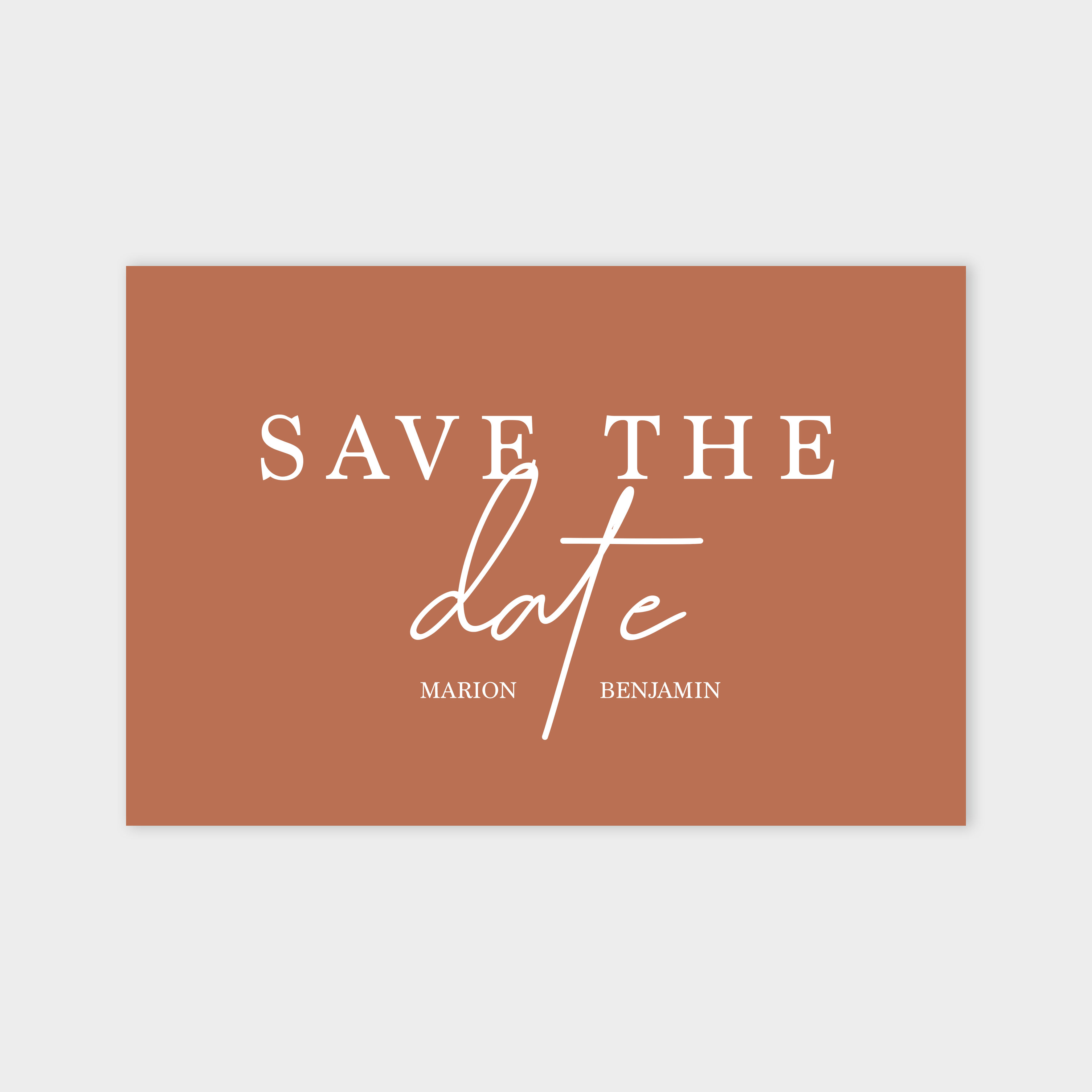 Save the date Évidence sépia