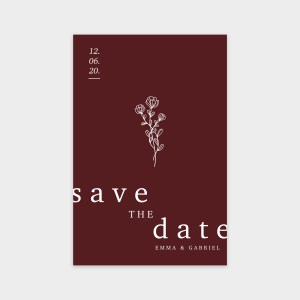 Save the date Histoire d'amour rubis