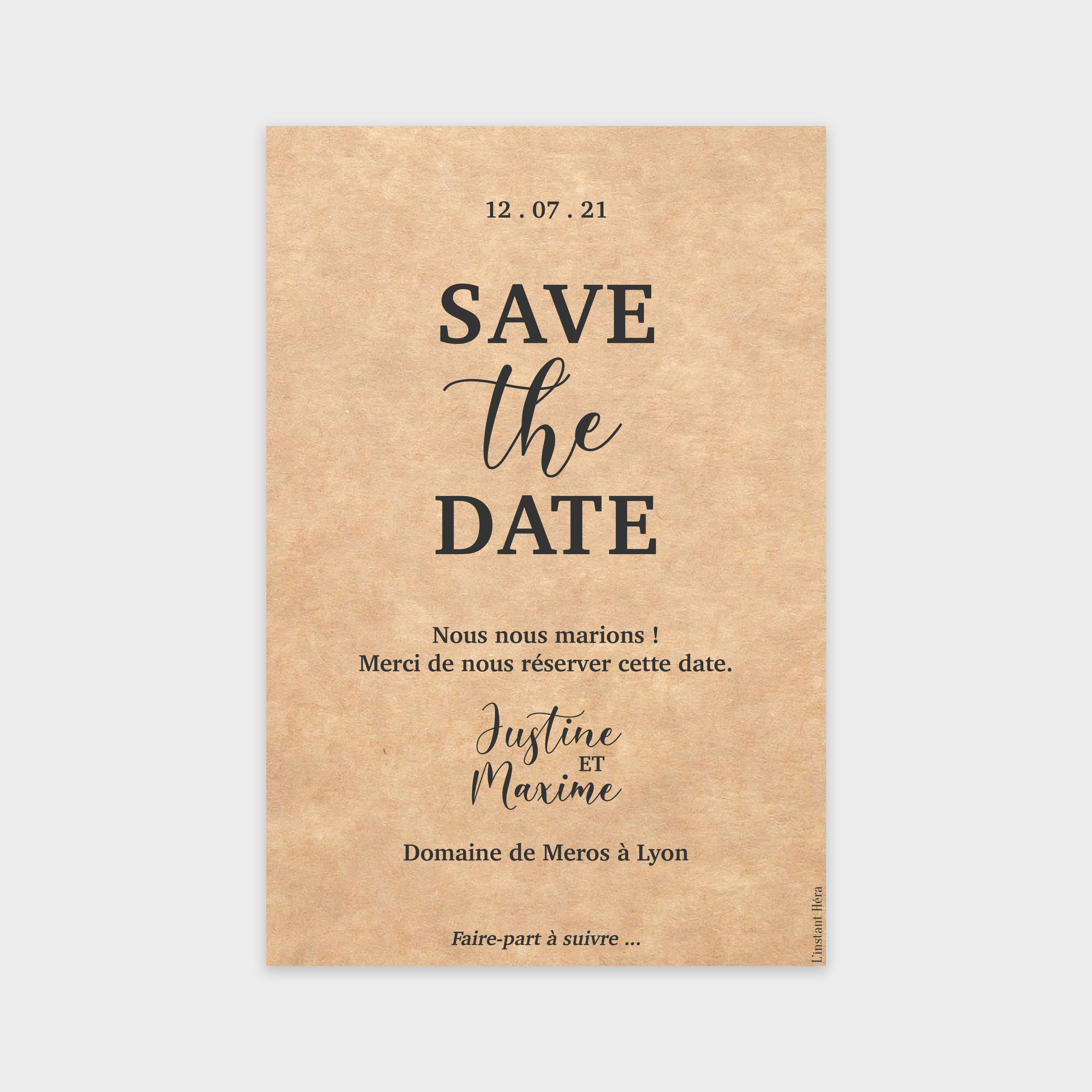 Save the date Infini tendresse