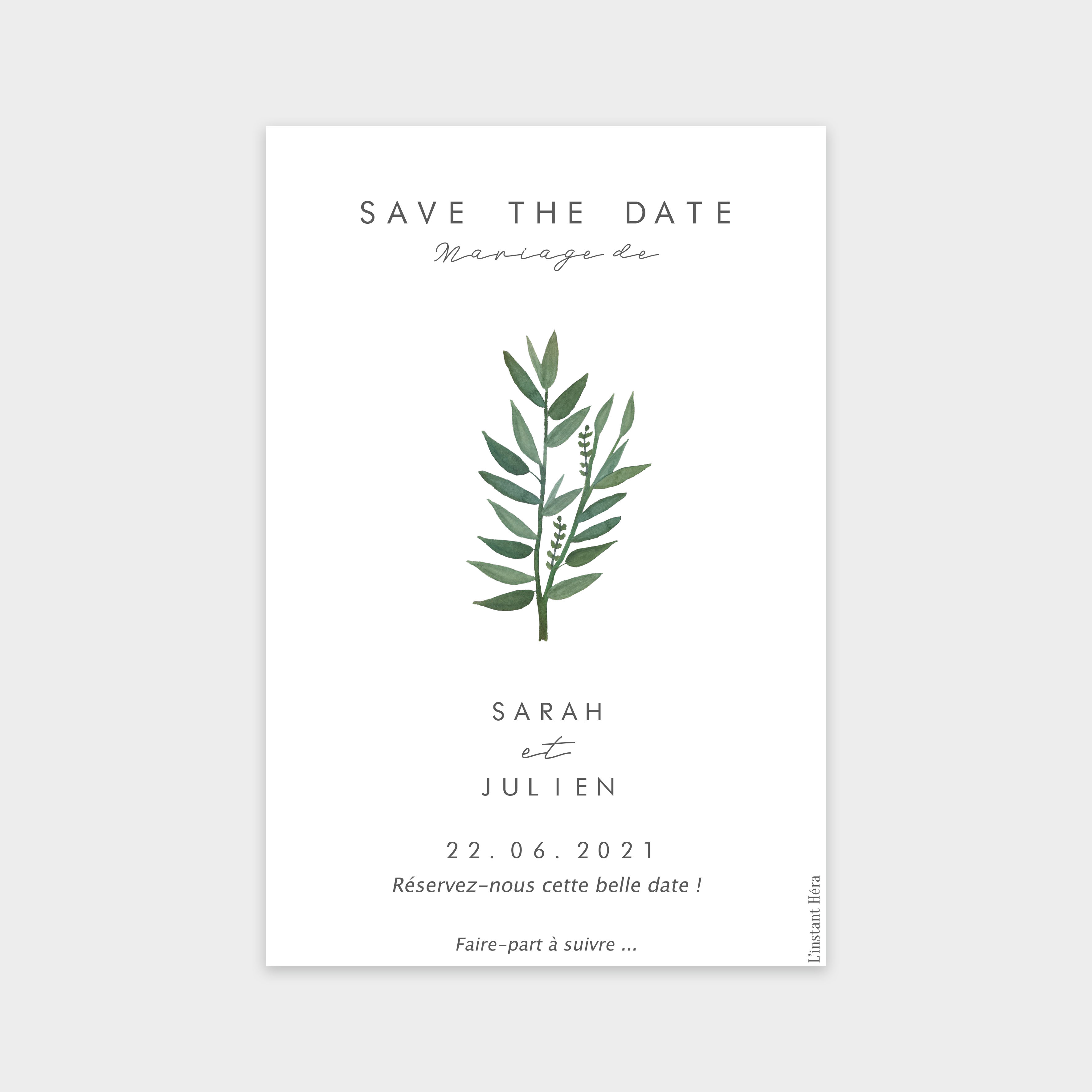 Save the date Instant d'amour