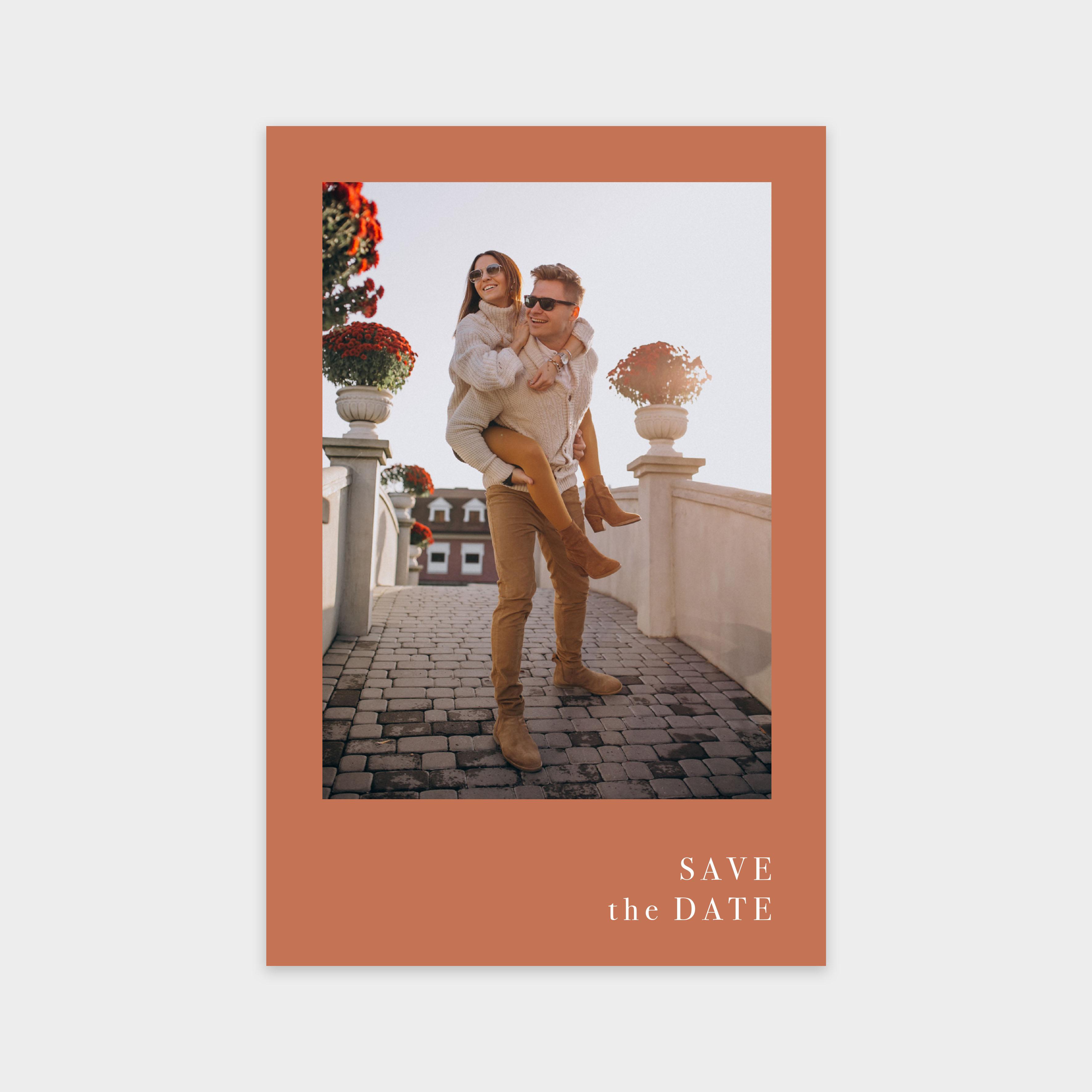 Save the date Romance argile