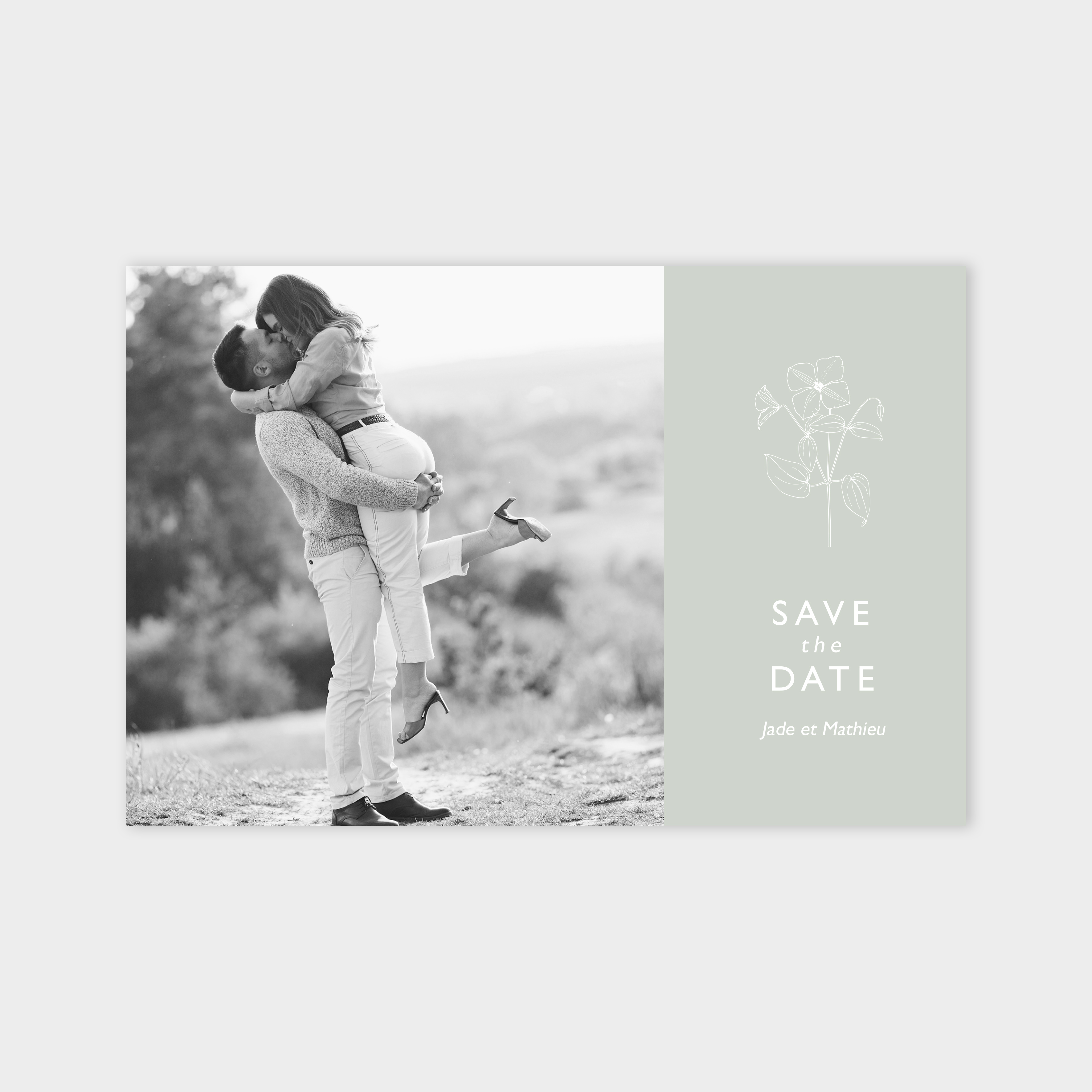 Save the date Toi et moi jade