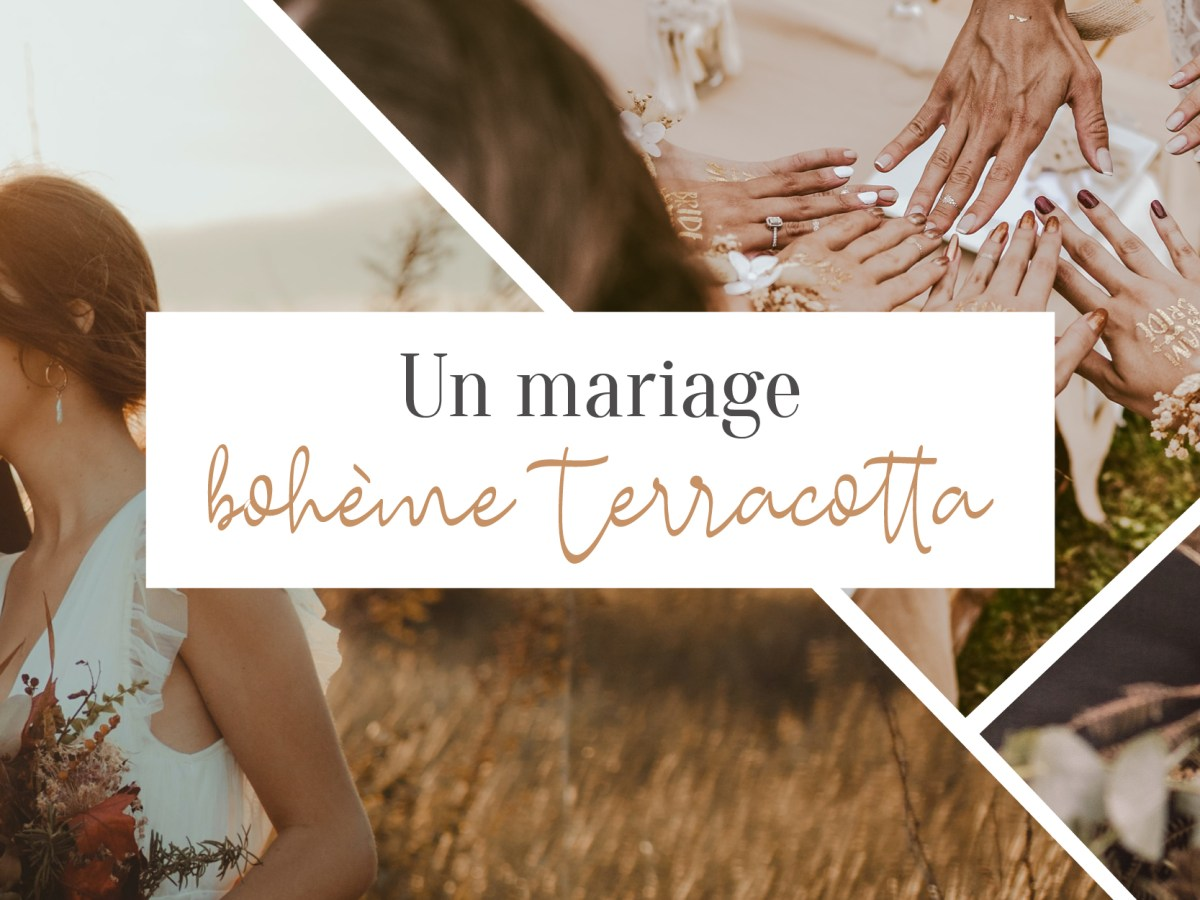 Un mariage bohème terracotta