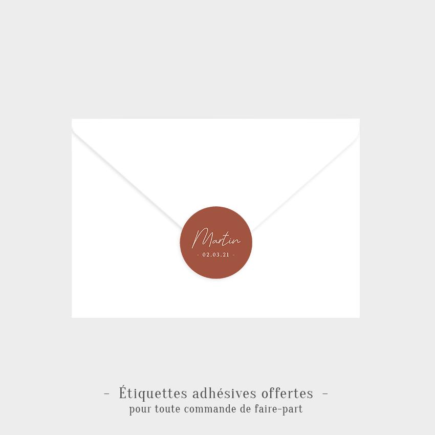 Étiquette adhésive Petite frimousse
