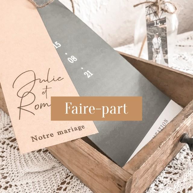 Collection vintage-Faire-part Notre jour