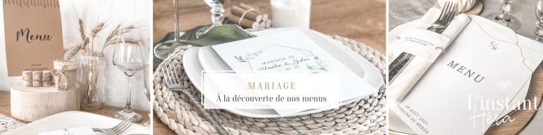 À la découverte de nos menus de mariage
