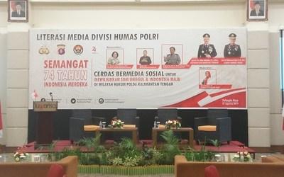 Polda Kalteng Adakan Workshop Literasi Media Divisi Humas Polri