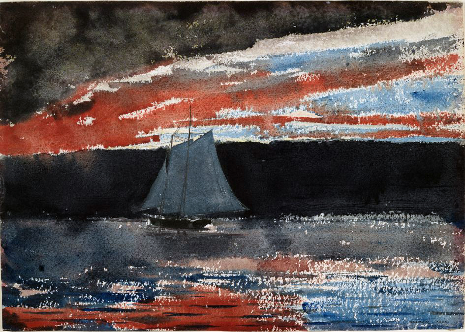 Views of the Grey Sea – Marine Watercolours by Winslow Homer – 1880 to 1890