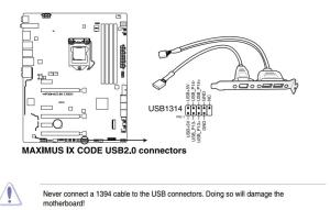 Corsair Link cable connection on Asus motherboard  Liquid