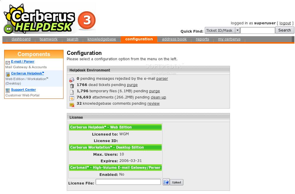 Download Cerberus Helpdesk Linux 7.0.4