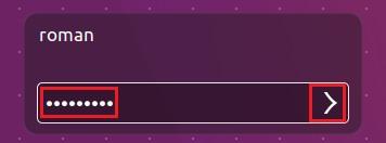 Ввод пароля в вновь установленную систему Ubuntu 16.04 LTS