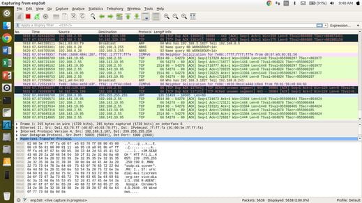 how to apply coloring in wireshark