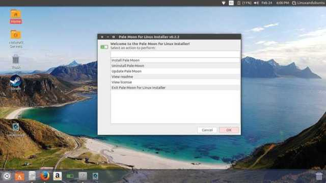 install pale moon browser in linux