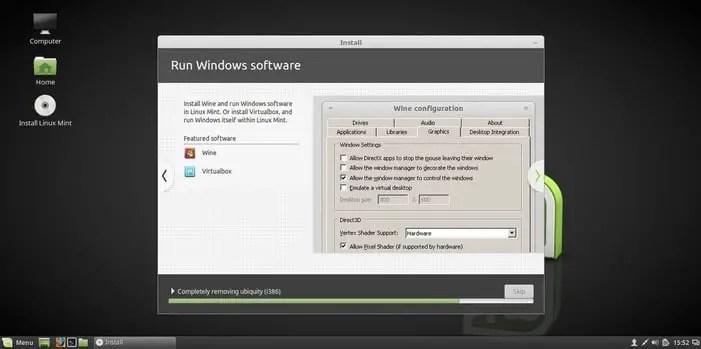 linux mint 18 run windows software