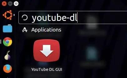 start youtube-dl in ubuntu
