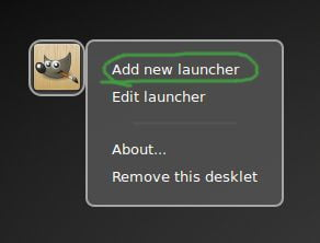 add new launcher in linux mint