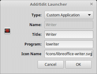 create libreoffice desklet in linux mint