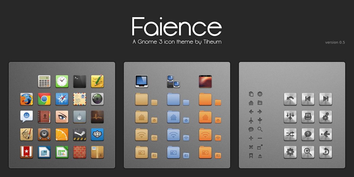 faience icon theme for linux