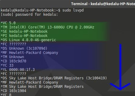 how to run lsvpd tool