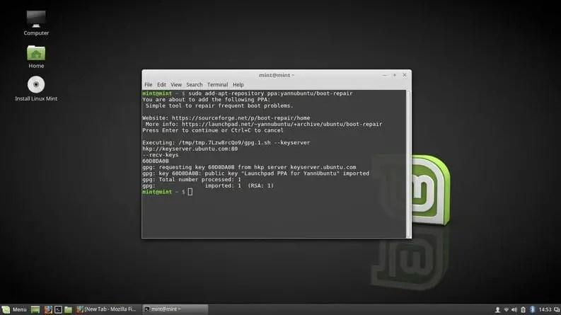 install boot repair tool in linux
