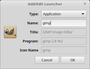 set gimp desklet on linux mint
