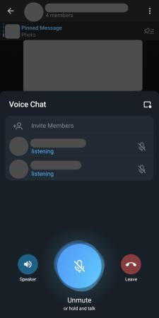 الدردشة الصوتية في تلجرام