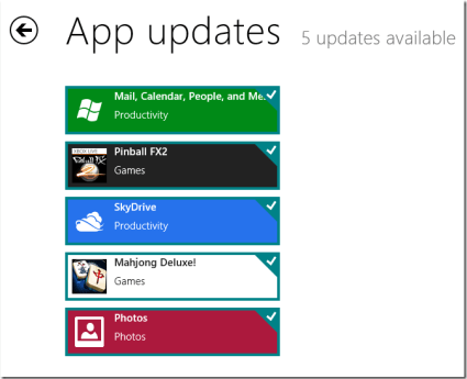 Our testers liked the fact that Windows 8 now enables them to update all Metro apps at the same time from within the Windows Store.