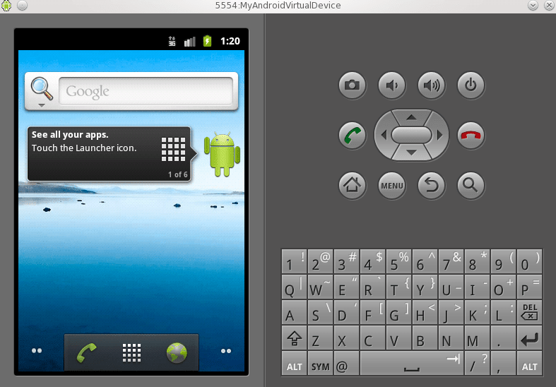 android application launcher