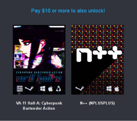 Humble Overwhelmingly Positive Bundle 10 dollar tier