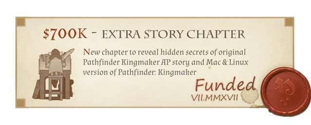 pathfinder: kingmaker linux and mac support plus new chapter