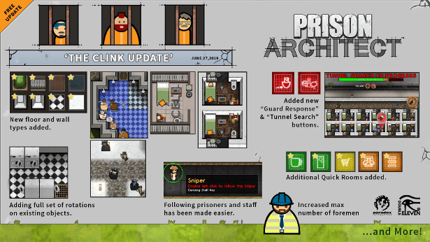 the clink update now live for prison architect in linux mac windows pc games