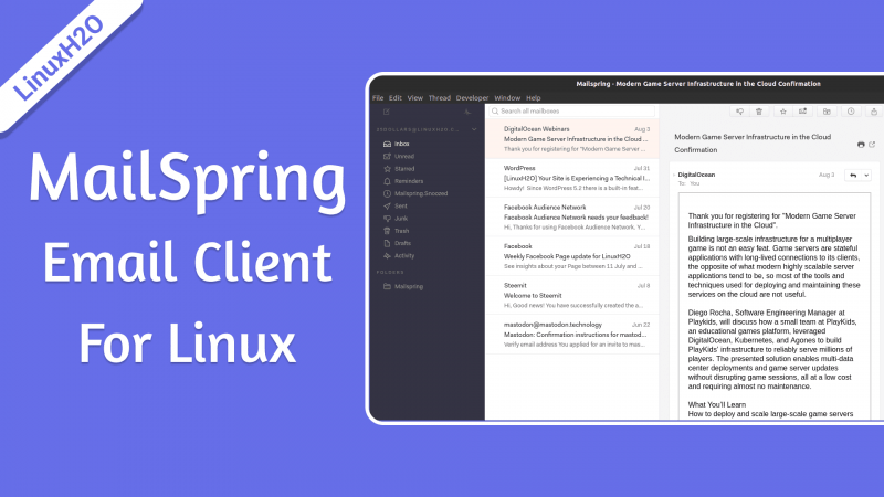 MailSpring - best email client for Linux