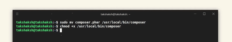 setting up composer