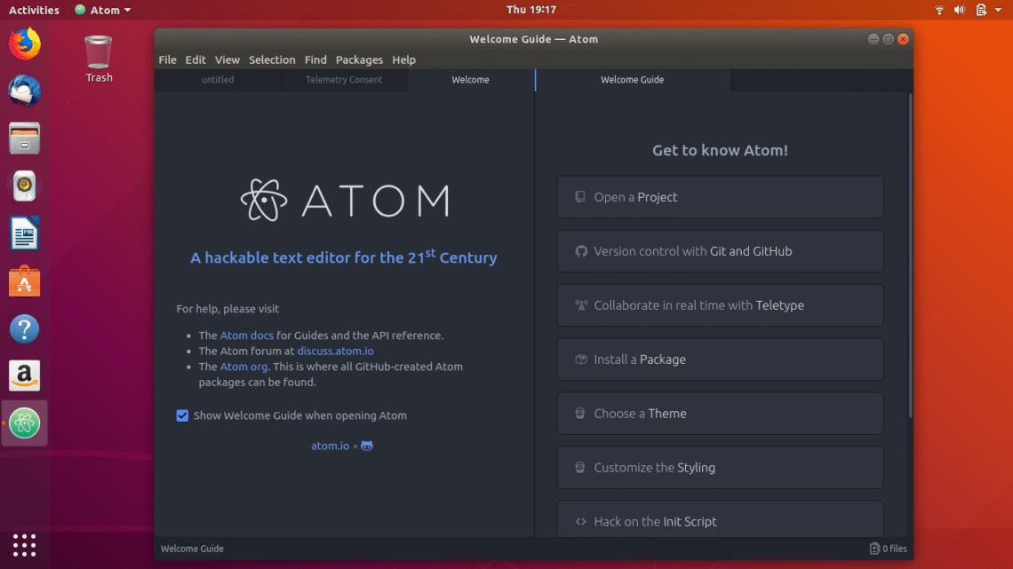 atom text editor has one of the best user interfaces and it is a feature rich text editor with offerings like auto completion syntax highlighting and