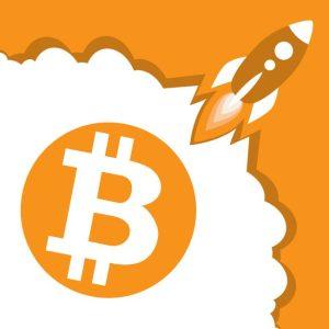 Bitcoin taking off like a rocket ship.