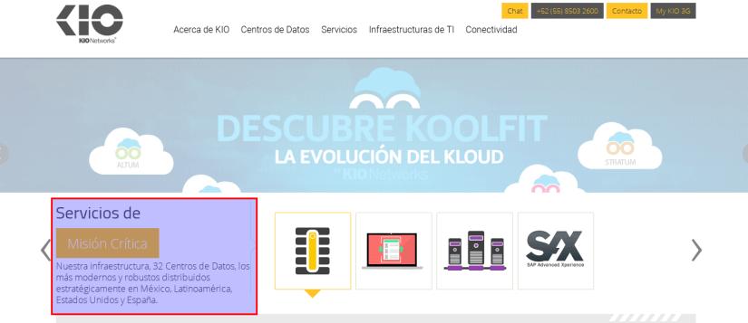 Página web de Kio Networks