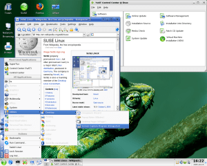 SuSE Linux, a popular Linux desktop operating system