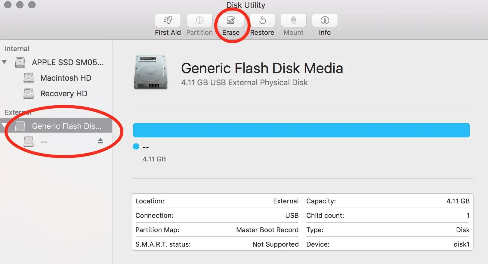 mount iso flash drive mac