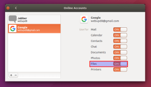 Using Google Drive via the Ubuntu Control Center