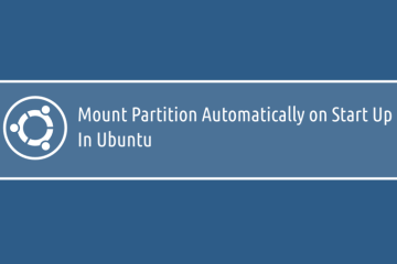 Mount Partition Automatically on Start Up In Ubuntu