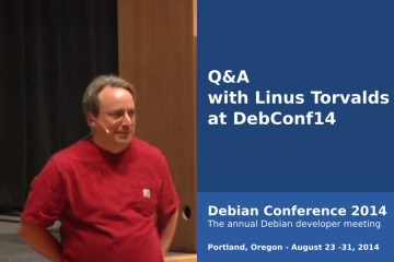 Q&A with Linus Torvalds at DebConf14
