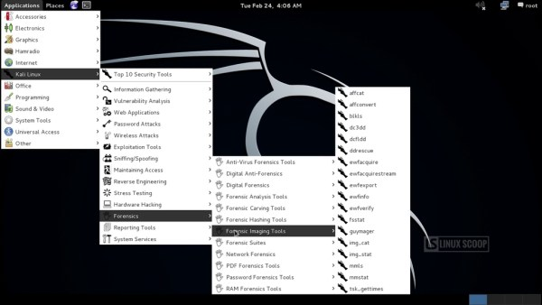 Kali Linux 1 1 0 : Video Overview and Screenshot Tours - Linux Scoop
